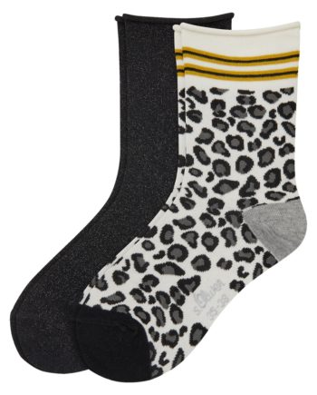 Camano Damen Socke Women Fashion Socks 2p, black