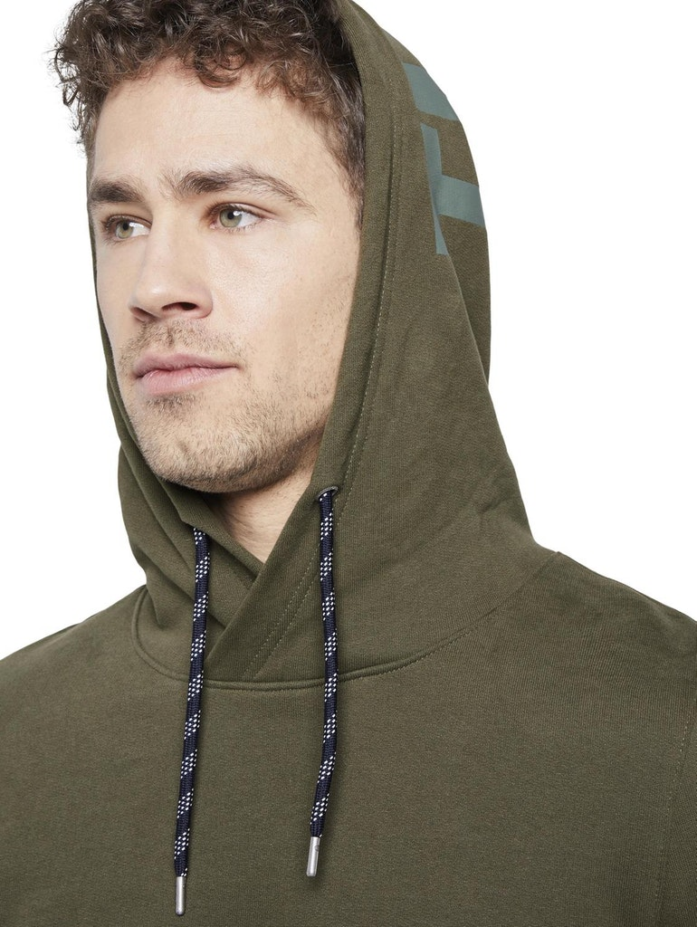 Tom Tailor Sweat-Shirt hoodie with print, Olive Night Green Green